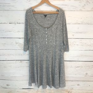 { Torrid } Buttoned Gray Dress
